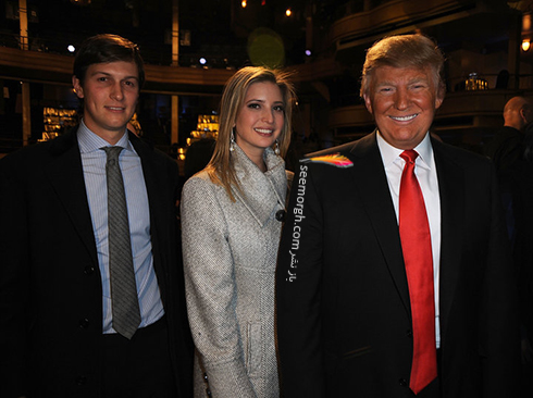ایوانکا ترامپ، دختر ترامپ به همراه همسرش جرد کوشنر در 2011 Comedy Central Roast