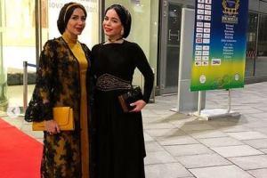 مدل لباس ملیکا شریفی نیا در اختتامیه جشنواره بین المللی فیلم های ورزشی میلان