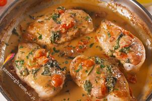 خوراک مرغ و مایونز فرانسوی