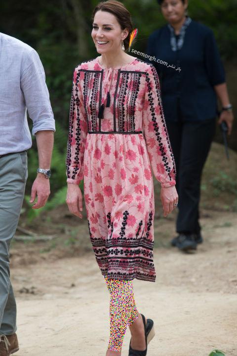 انتخاب و ست کردن پیراهن کوتاه به سبک Kate Middleton کیت میدلتون - 13 آوریل 2016