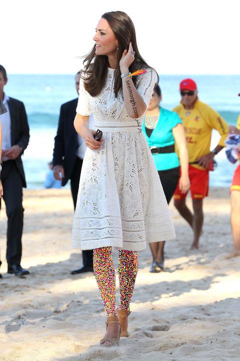 انتخاب و ست کردن پیراهن کوتاه به سبک Kate Middleton کیت میدلتون - 18 آوریل 2014