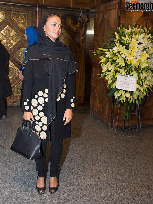 مدل مانتو رخشان بنی اعتماد در مراسم اهدای نشان داوود رشیدی
