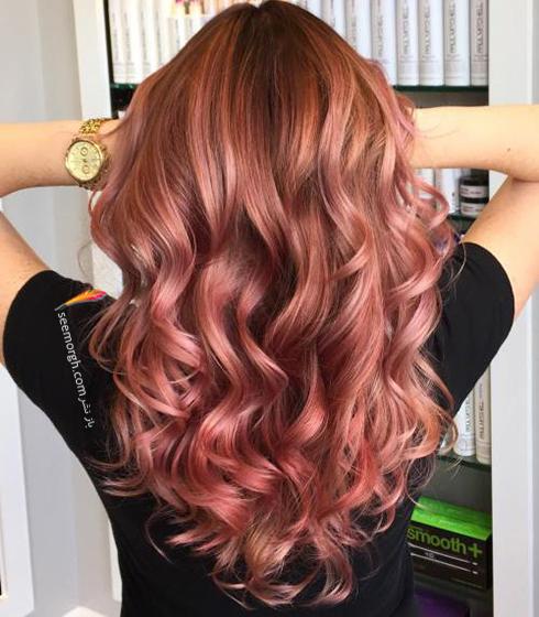 رنگ مو بلوند رزگلد براي سال نو ميلادي - عکس شماره 7