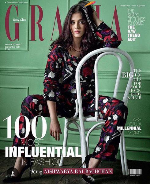 عکس های آیشواریا رای Aishwarya Rai روی مجله مد Grazia - عکس شماره 5