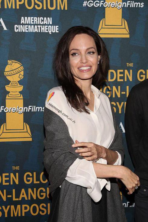 مدل لباس آنجلينا جولي Anjelina Jolie در خيريه انجمن مطبوعات خارجي هاليوود HFPA Trust - عکس شماره 3