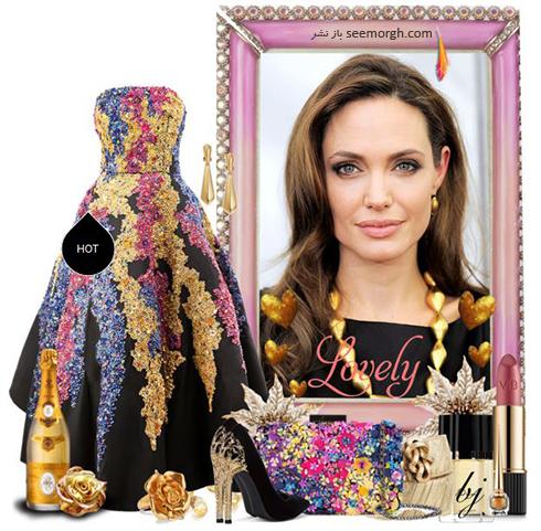 ست کردن لباس شب به سبک آنجلينا جولي Anjelina Jolie - عکس شماره 2