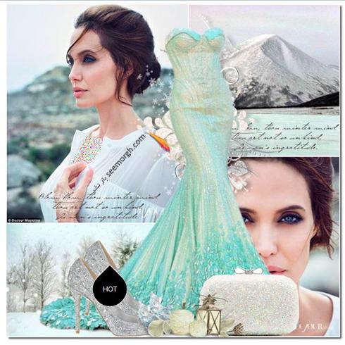 ست کردن لباس شب به سبک آنجلينا جولي Anjelina Jolie - عکس شماره 11