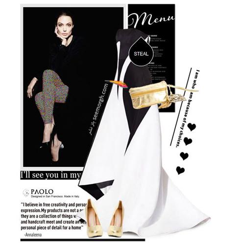 ست کردن لباس شب به سبک آنجلينا جولي Anjelina Jolie - عکس شماره 1