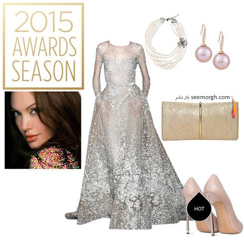 ست کردن لباس شب به سبک آنجلينا جولي Anjelina Jolie - عکس شماره 4