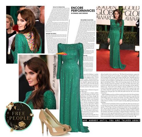 ست کردن لباس شب به سبک آنجلينا جولي Anjelina Jolie - عکس شماره 3