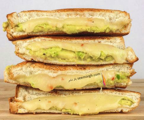 طرز تهیه ساندویچ آووکادو پنیری