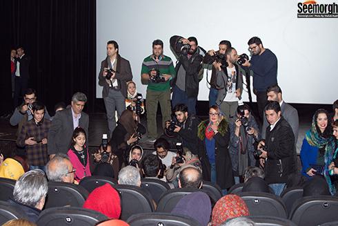 حضور عکاسان و خبرنگاران در اکران مردمی آینه بغل