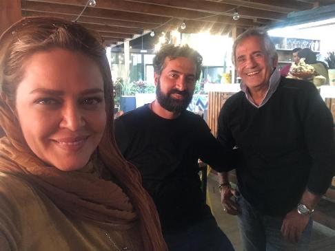 بهاره رهنما و همسرش در کافه مجید مظفری! عکس
