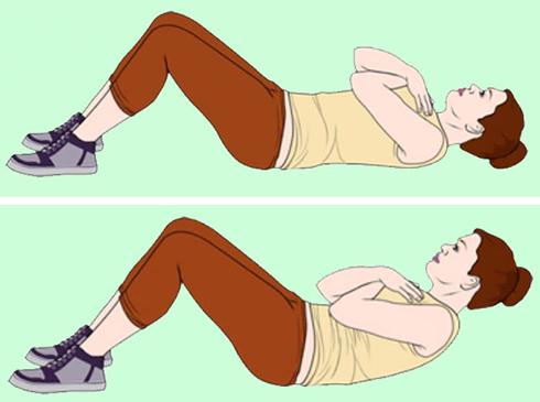 کوچک کردن شکم با کرانچ