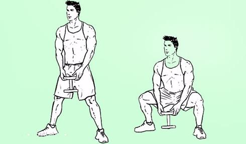 کوچک کردن شکم با اسکوات دمبل