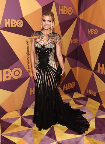 مدل لباس کارمن الکترا Carmen Electra در ميهماني بعد از گلدن گلوب Golden Globe 2018