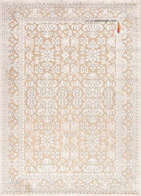 ست کردن فرش با مبلمان کرم قهوه اي - عکس شماره 3