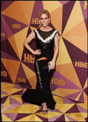 مدل لباس چريل هاينس Cheryl Hines در ميهماني بعد از گلدن گلوب Golden Globe 2018