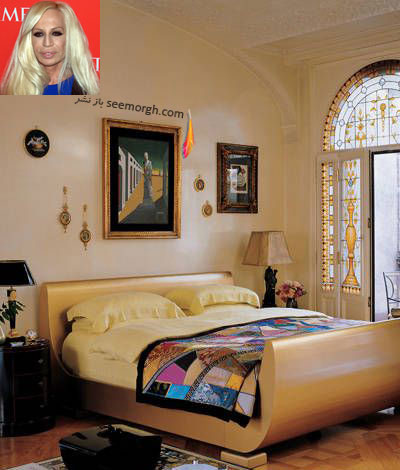دکوراسيون اتاق خواب دوناتلا ورساچه Donatella Versace
