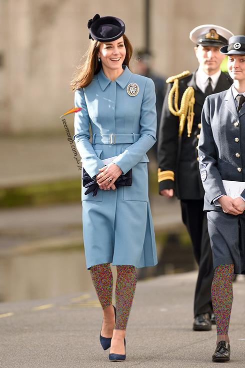 کيت ميدلتون با يک کيف دستي زيبا به رسم مد خانواده سلطنتي - عکس شماره 1