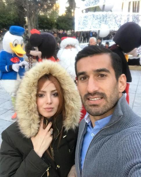 احسان حاج صفی و همسرش