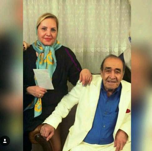 ايرج و همسرش ( پدر و مادر احسان خواجه اميري)