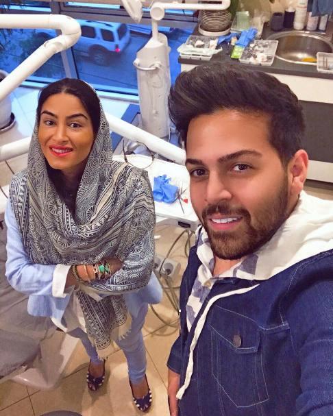 تبلیغ عماد طالب زاده برای خانم دکتر دندانپزشکش!