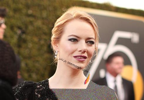 مدل مو اما استون Emma Stone در گلدن گلوب 2018 Golden Globe