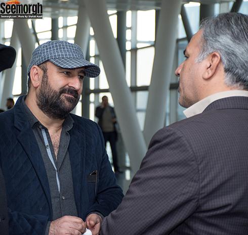 مهران احمدی در آیین قرعه کشی جشنواره فجر 36