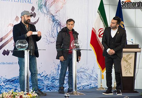 مهران احمدی در آیین قرعه کشی جشنواره فجر