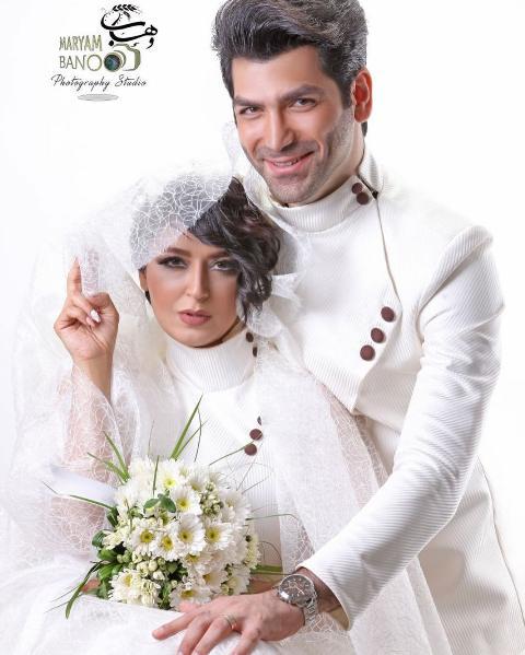 عروسی فریبا طالبی و همسرش