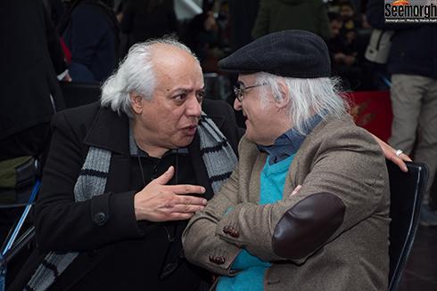 سيروس الوند و فريدون جيراني در آيين قرعه کشي جشنواره فجر 36