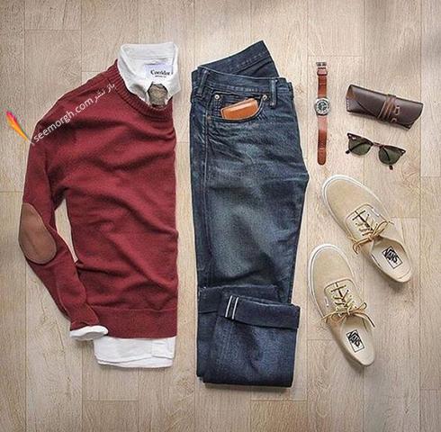ترکیب زرشکی و طوسی، بهترین ست کردن لباس مردانه برای پاییز 2017 - عکس شماره 8