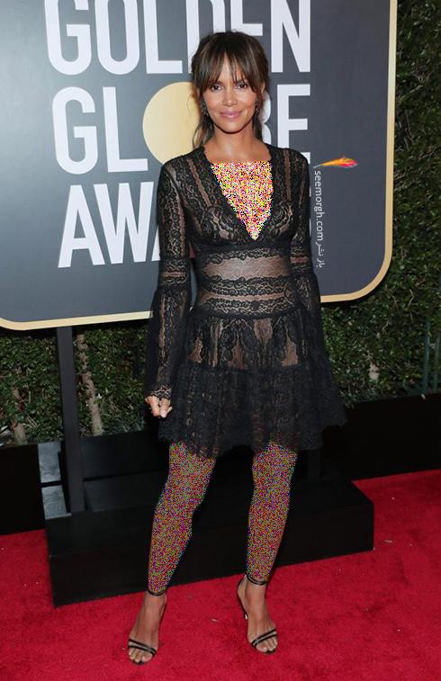 مدل لباس هال بري Halle Berry در مراسم گلدن گلوب 2018