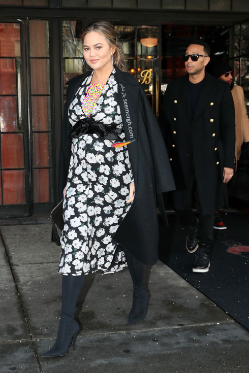 مدل لباس بارداري به سبک کريسي تيگن Chrissy Teigen - عکس شماره 1