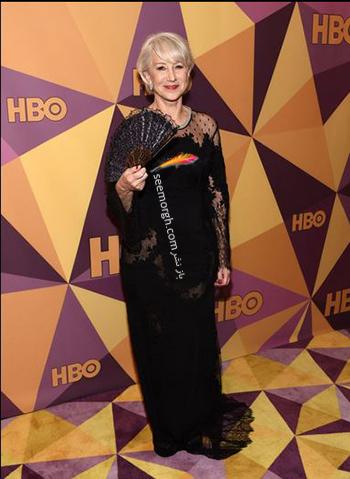 مدل لباس هلن ميرن Helen Mirren در ميهماني بعد از گلدن گلوب Golden Globe 2018