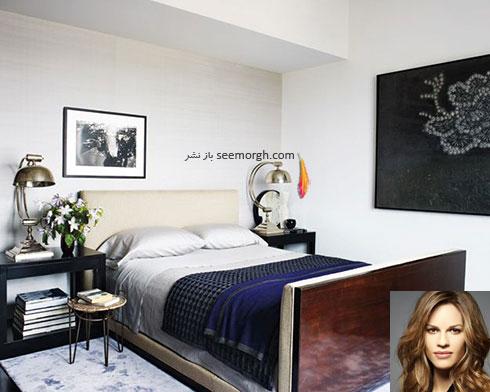 دکوراسیون اتاق خواب هیلاری سوانک Hilary Swank
