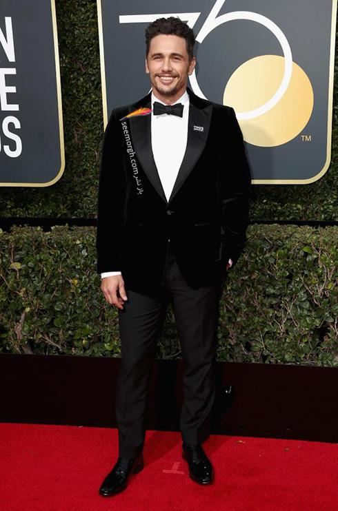 مدل کت و شلوار جيمز فرانکو James Franco در مراسم گلدن گلوب 2018