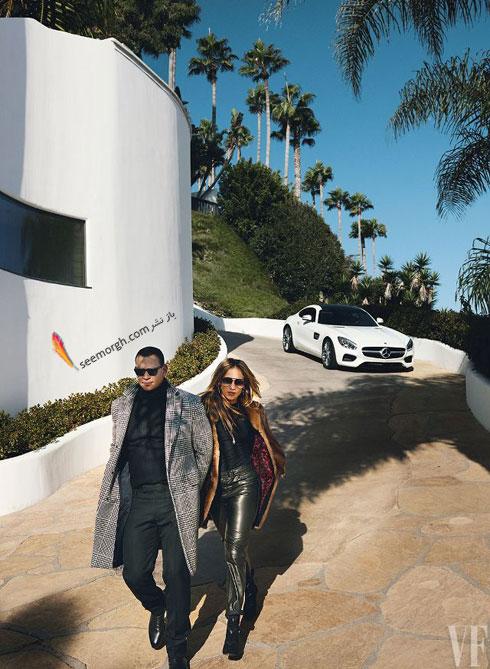 عکس هاي جديد جنيفر لوپز Jennifer Lopez و الکس رودريگرز Alex Rodriguez براي مجله مد ونتي فير Vanity Fair - عکس شماره 1