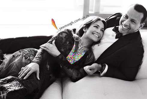 عکس هاي جديد جنيفر لوپز Jennifer Lopez و الکس رودريگرز Alex Rodriguez براي مجله مد ونتي فير Vanity Fair - عکس شماره 5