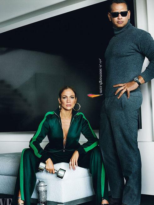 عکس هاي جديد جنيفر لوپز Jennifer Lopez و الکس رودريگرز Alex Rodriguez براي مجله مد ونتي فير Vanity Fair - عکس شماره 4