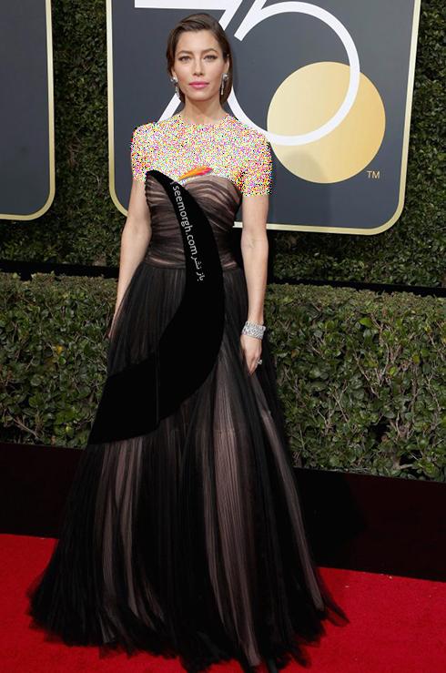 مدل لباس جسيکا بيل Jessica Biel در مراسم گلدن گلوب 2018