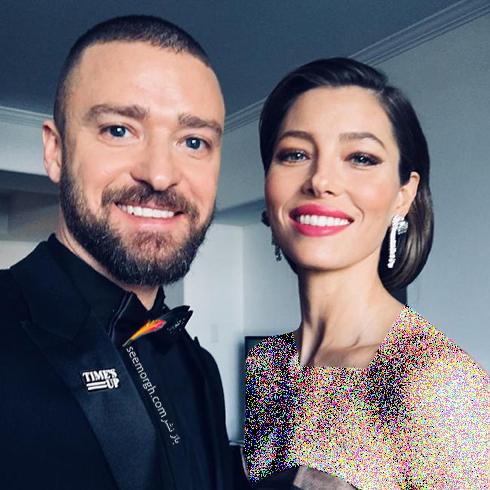 جسيکا بيل Jessica Biel و همسرش جاستين تيمبرليک Justin Timberlake در حال رفتن به مراسم گلدن گلوب 2018 Golden Globe