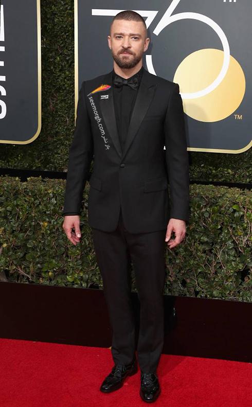 مدل کت و شلوار جاستين تيمبرليک Justin Timberlake در مراسم گلدن گلوب 2018