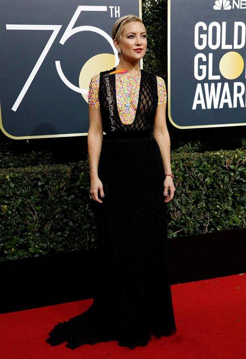 مدل لباس کيت هادسون Kate Hudson در مراسم گلدن گلوب 2018
