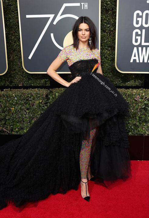 مدل لباس کندال جنر Kndall Jenner در مراسم گلدن گلوب 2018