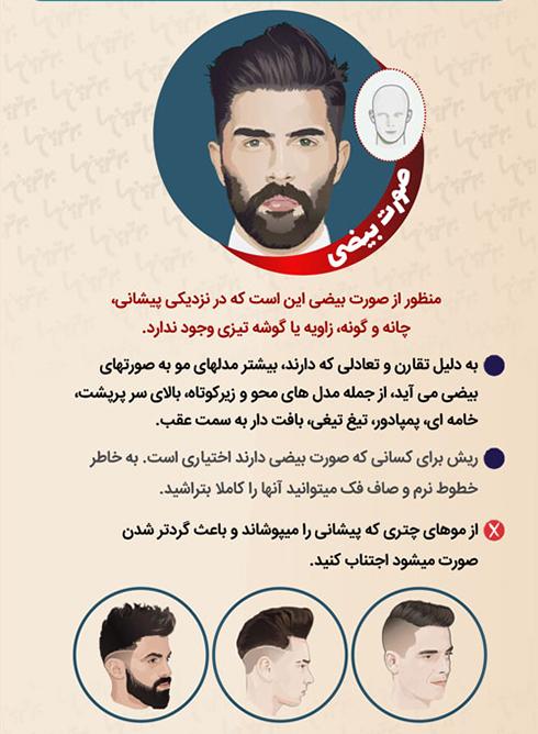 مدل مو مردانه برای صورت بیضی