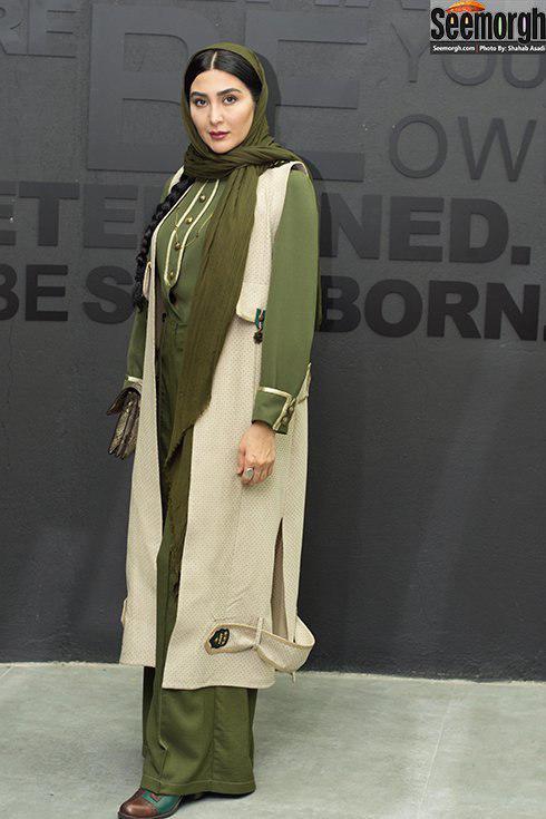 مدل مانتو مریم معصومی در افتتاحیه باشگاه انرژی