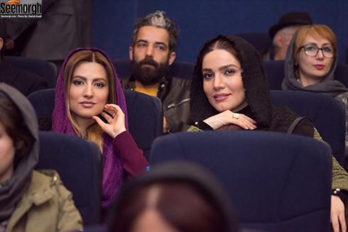 سميرا حسيني و متين ستوده در اکران خصوصي آذر