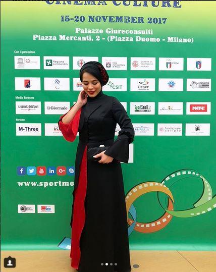 مدل لباس مليکا شريفي نيا در جشنواره بين المللي فيلمهاي ورزشي ميلان - عکس شماره 1